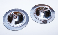 1 Paar Fingercymbeln 67 mm Chrome