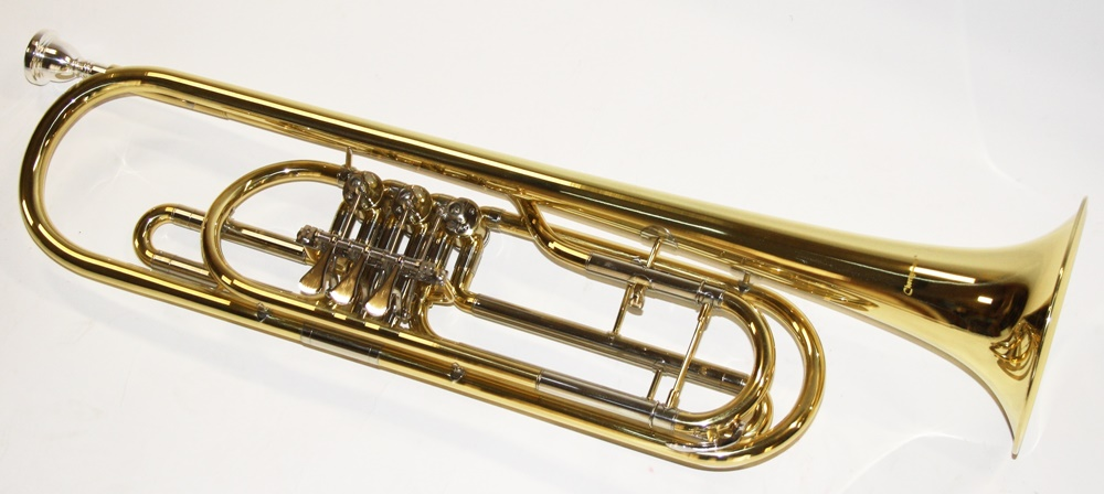 how to hold a rotary valve trumpet