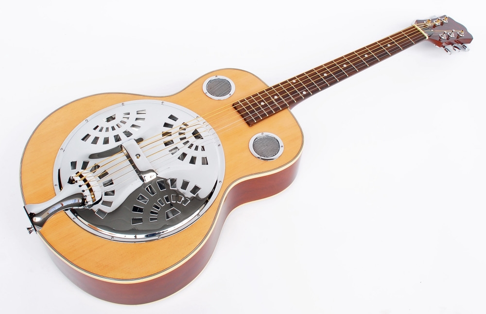 cherrystone resonator guitar with colour choice ebay. Black Bedroom Furniture Sets. Home Design Ideas