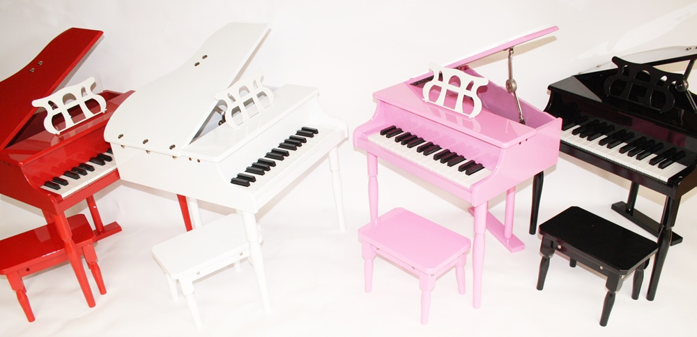 Kinder Klavier Piano Flügel Kinderklavier + Hocker in 4 Farben